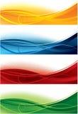 Bandiere impostate Immagini Stock Libere da Diritti