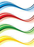 Bandiere impostate Immagine Stock
