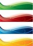 Bandiere impostate Fotografia Stock