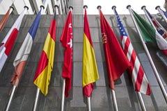 Bandiere internazionali Immagini Stock Libere da Diritti