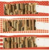 Bandiere life- urbane - colore rosso Fotografia Stock Libera da Diritti