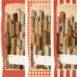 Bandiere life- urbane - colore rosso Immagine Stock Libera da Diritti