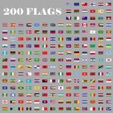 200 bandiere messe del mondo Fotografia Stock Libera da Diritti