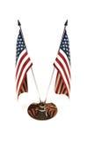 Bandiere miniatura americane Immagine Stock