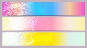 Bandiere minime separate Immagini Stock