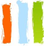 Bandiere multicolori grungy verticali Immagini Stock