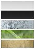 Bandiere naturali Fotografie Stock