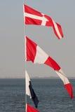 Bandiere nautiche Fotografia Stock Libera da Diritti