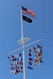 Bandiere nautiche Fotografie Stock Libere da Diritti