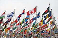 Bandiere nazionali Fotografia Stock Libera da Diritti