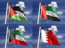 Bandiere nazionali Fotografie Stock Libere da Diritti