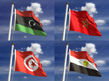 Bandiere nazionali Fotografie Stock
