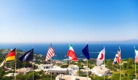 Bandiere nazionali fotografia stock