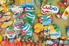 Bandiere nazionali cubane, palma, ritratti di Che Guevera e l'altro frid Immagini Stock Libere da Diritti