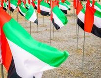 Bandiere nazionali dei UAE Fotografia Stock
