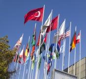 Bandiere nazionali del mondo Fotografia Stock Libera da Diritti