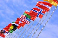 Bandiere nazionali del paese differente Immagini Stock