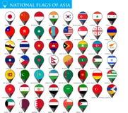 Bandiere nazionali dell'Asia Immagini Stock Libere da Diritti