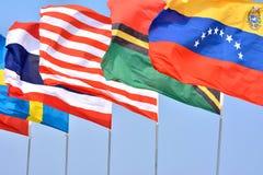 Bandiere nazionali differenti Fotografie Stock Libere da Diritti