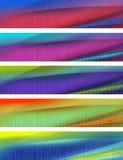 Bandiere nei multi colori Fotografia Stock