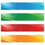 Bandiere nel semitono e nelle righe curve Fotografie Stock