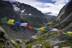 Bandiere nel vento Fotografie Stock Libere da Diritti