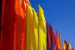 Bandiere nel vento Immagini Stock Libere da Diritti