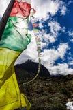 Bandiere nepalesi variopinte Fotografia Stock Libera da Diritti