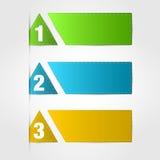 Bandiere numerate Fotografia Stock
