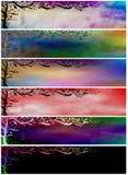 Bandiere o intestazioni verniciate floreali di Grunge Fotografia Stock