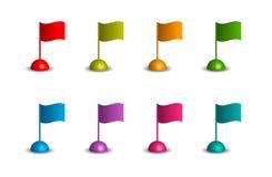 Bandiere ondulate nei colori differenti Royalty Illustrazione gratis