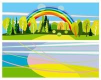 Bandiere orizzontali di estate Fotografia Stock Libera da Diritti