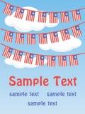 Bandiere patriottiche della stamina Fotografia Stock
