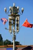 Bandiere per il più di visita di stato di Donald Trump in Cina Immagini Stock