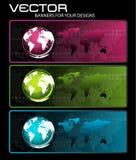 Bandiere per il vostro disegno Immagine Stock