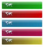 Bandiere per il vostro marchio di Web page Immagini Stock Libere da Diritti