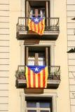 Bandiere per indipendenza, Spagna della Catalogna immagine stock libera da diritti