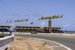 Bandiere quadrate di Accra di indipendenza Fotografia Stock