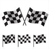 Bandiere a quadretti (correre). Vettore Immagini Stock Libere da Diritti
