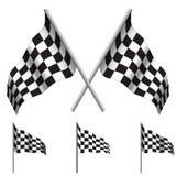 Bandiere a quadretti (correre). Vettore Immagine Stock