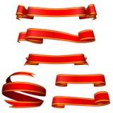 Bandiere rosse Fotografia Stock