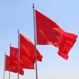 Bandiere rosse Immagine Stock