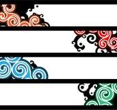 Bandiere separate Immagini Stock