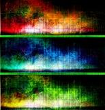 Bandiere strutturate variopinte Fotografia Stock