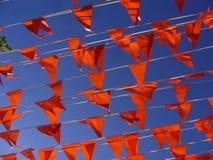 Bandiere su Koninginnedag (olandese Queensday) Fotografia Stock Libera da Diritti