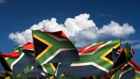 Bandiere sudafricane d'ondeggiamento royalty illustrazione gratis