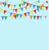 Bandiere sul blu Fotografia Stock