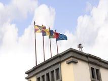 Bandiere sul mercato Corridoio a Funchal sull'isola di Madiera Fotografia Stock Libera da Diritti
