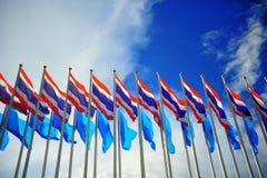 Bandiere tailandesi Immagine Stock