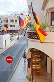 Bandiere tedesche nella celebrazione della coppa del Mondo della Spagna Fotografia Stock